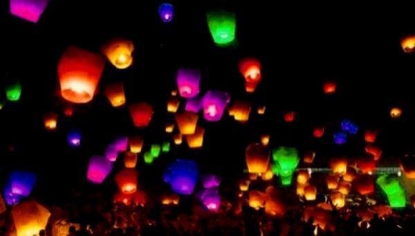 Небесные фонарики сердце - фото 3