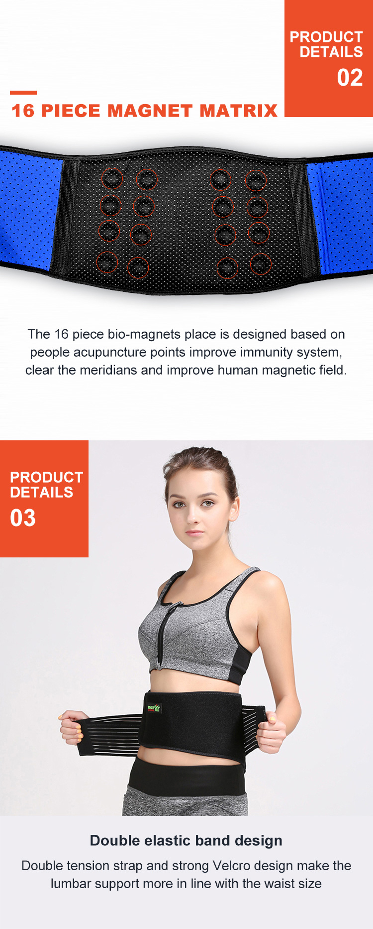 Stabilizing Lumbar Lower Back Brace Support Belt With Dual Adjustable Straps Breathable Mesh Panels