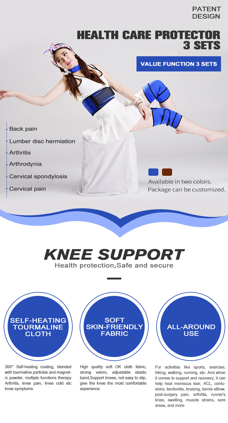Patented Technology 3 Set Neck Waist Knee Support For Sports Recovery, Knee Arthritis, Low back pain