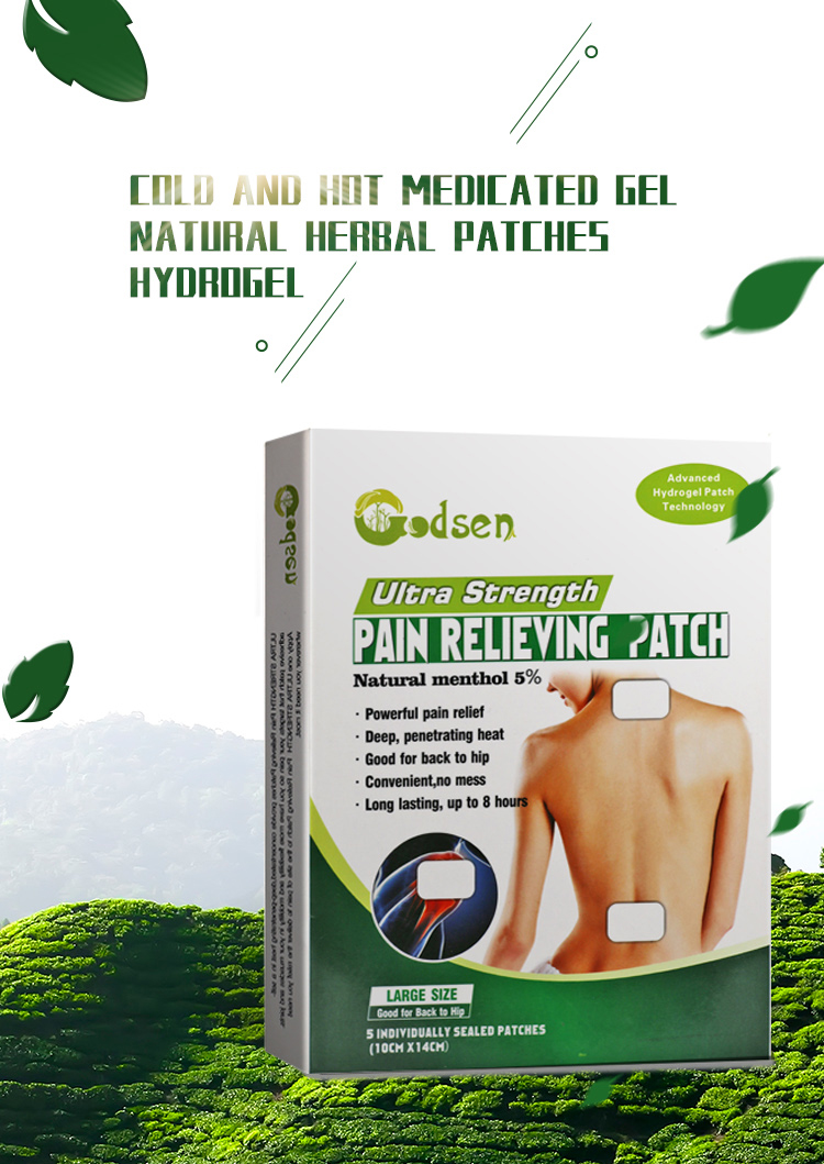 Muscle Pain Relief Plaster Cooling Gel Pain Relieve Patch Pads