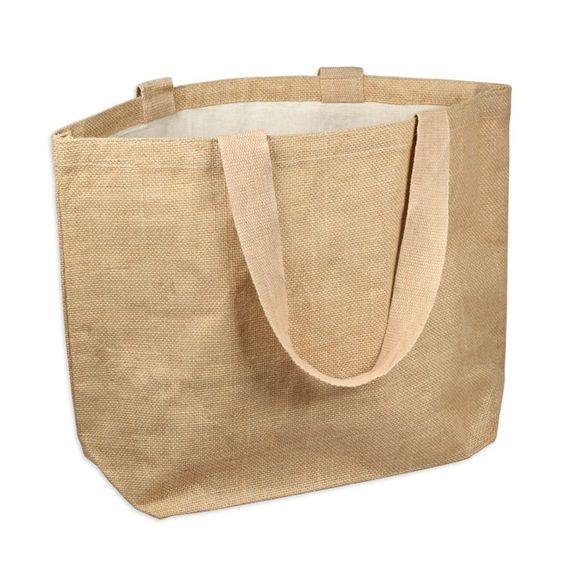 Джутовая пляжная сумка