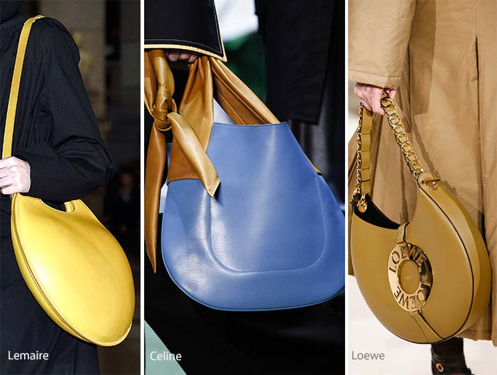 Модные сумки на сезон осень, зима . Новые тенденции - фото Сумки-полумесяцы и сумки хобо - тенденции осень 2016, зима 2017