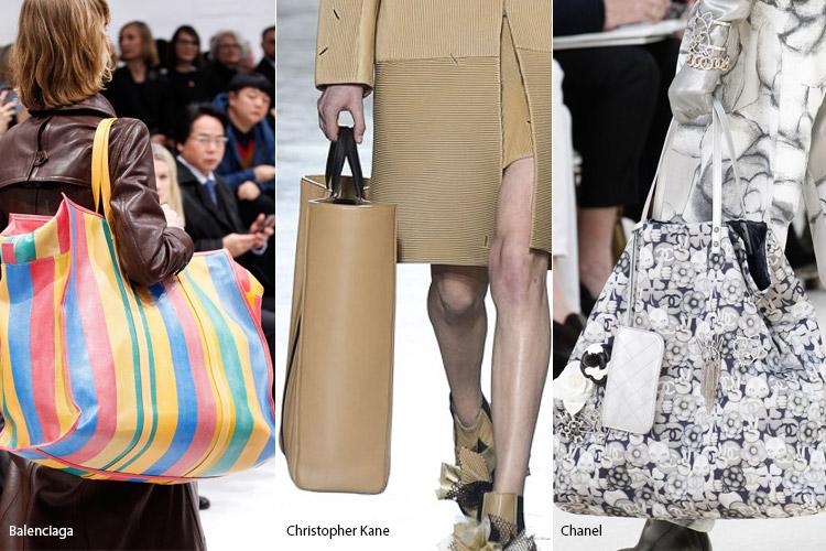 Модные сумки на сезон осень, зима . Новые тенденции - фото Гигантские сумки - тенденции осень 2016, зима 2017