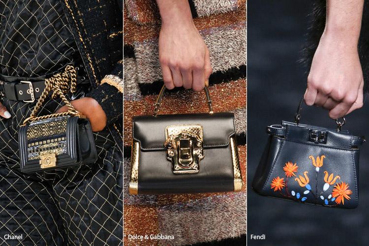 Модные сумки на сезон осень, зима . Новые тенденции - фото Сумки малышки - тенденции осень 2016, зима 2017