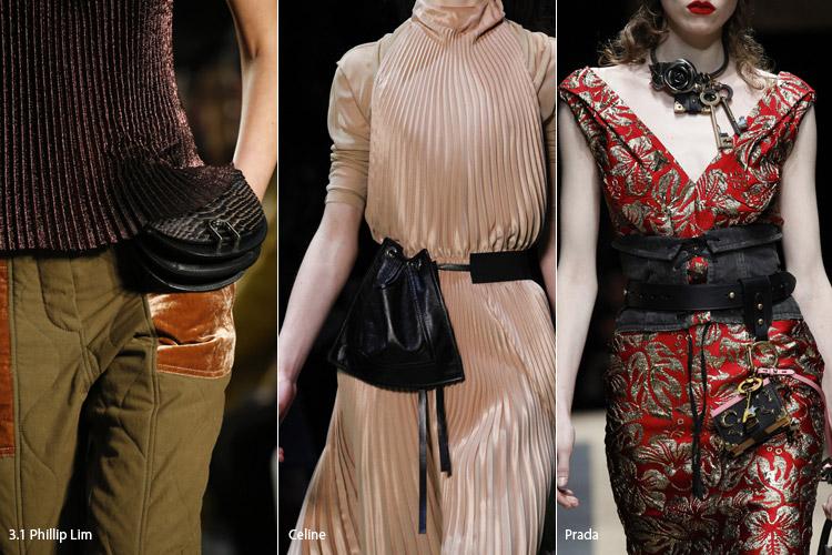 Модные сумки на сезон осень, зима . Новые тенденции - фото Сумки пристегнутые к поясу - тенденции осень 2016, зима 2017