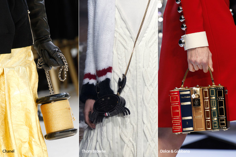 Модные сумки на сезон осень, зима . Новые тенденции - фото Странные и эксцентричные сумки - тенденции осень 2016, зима 2017