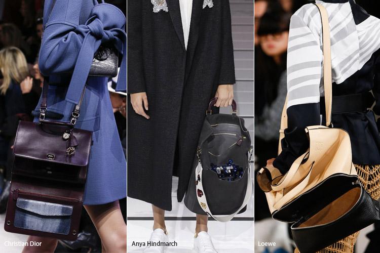 Модные сумки на сезон осень, зима . Новые тенденции - фото Расстегнутые сумки - тенденции осень 2016, зима 2017