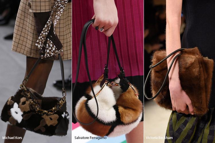 Модные сумки на сезон осень, зима . Новые тенденции - фото Сумки из меха - тенденции осень 2016, зима 2017