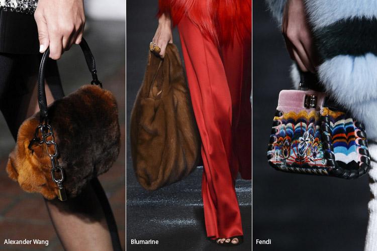 Модные сумки на сезон осень, зима . Новые тенденции - фото Сумки из меха 2 - тенденции осень 2016, зима 2017