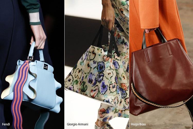 Модные сумки на сезон осень, зима . Новые тенденции - фото Трапециевидные сумки - тенденции осень 2016, зима 2017