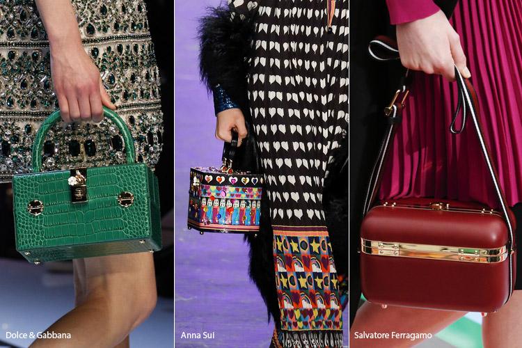 Модные сумки на сезон осень, зима . Новые тенденции - фото Квадратные сумки боксы - тенденции осень 2016, зима 2017