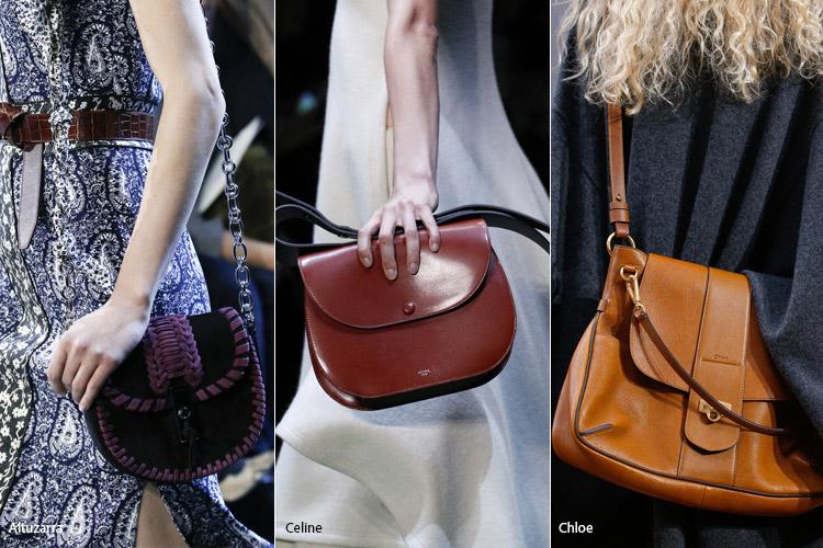 Модные сумки на сезон осень, зима . Новые тенденции - фото Сумки седло - тенденции осень 2016, зима 2017