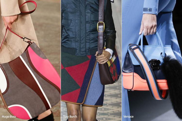 Модные сумки на сезон осень, зима . Новые тенденции - фото Разноцветные сумки - тенденции осень 2016, зима 2017