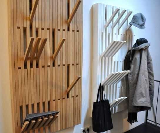 Вешалки, стойки для одежды - фото Настенные вешалки для прихожей с отгибающимися крючками