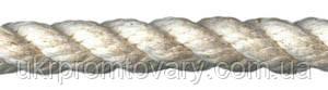 Канат хлопчатобумажный диаметром 35 мм трехпрядный ТС - фото Канат хлопчатобумажный, хб канат Киев