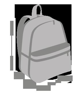Оптом рюкзак для школы и прогулок листья - красный - 12-623 - фото Замеры рюкзака