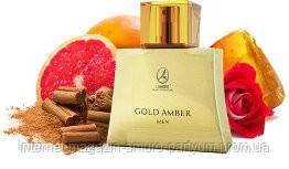 Gold Amber men Lambre французские мужские духи  75мл - фото 1
