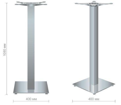 БАЗА АФИНА NEW нерж. HIGH (H 108 см.). Основание для барного стола Афина new inox HIGH. - фото 1