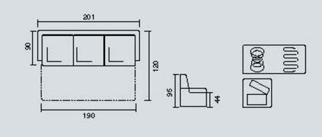 Размеры дивана Доминик В