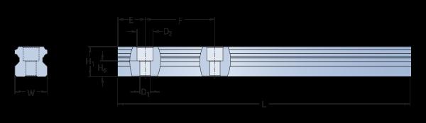 SKF рельсовая направляющая размеры
