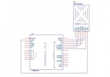 RFID РЧИД модуль для карт Mifare на RC522, Arduino - фото Схема подключения к ардуино: