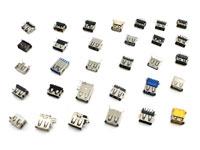 30x USB 2.0 и USB 3.0 разъем гнездо, набор - фото USB разъемы из набора