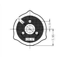 10x Рассеивающая оптическая линза LED планки подсветки ТВ, внутр крепеж - фото Размеры линзы