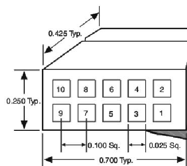 USB программатор Altera Blaster FPGA CPLD JTAG - фото Схема контактов