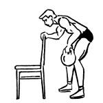 Тренировка спины на шведской стенке и с утяжелителями - фото наклон с упором