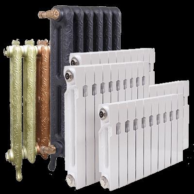 Радиаторы отопления: стальные, алюминиевые, чугунные, биметаллические