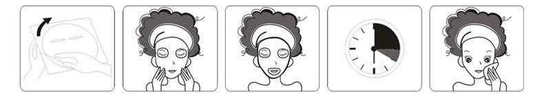 способ применения маски для лица с черникой