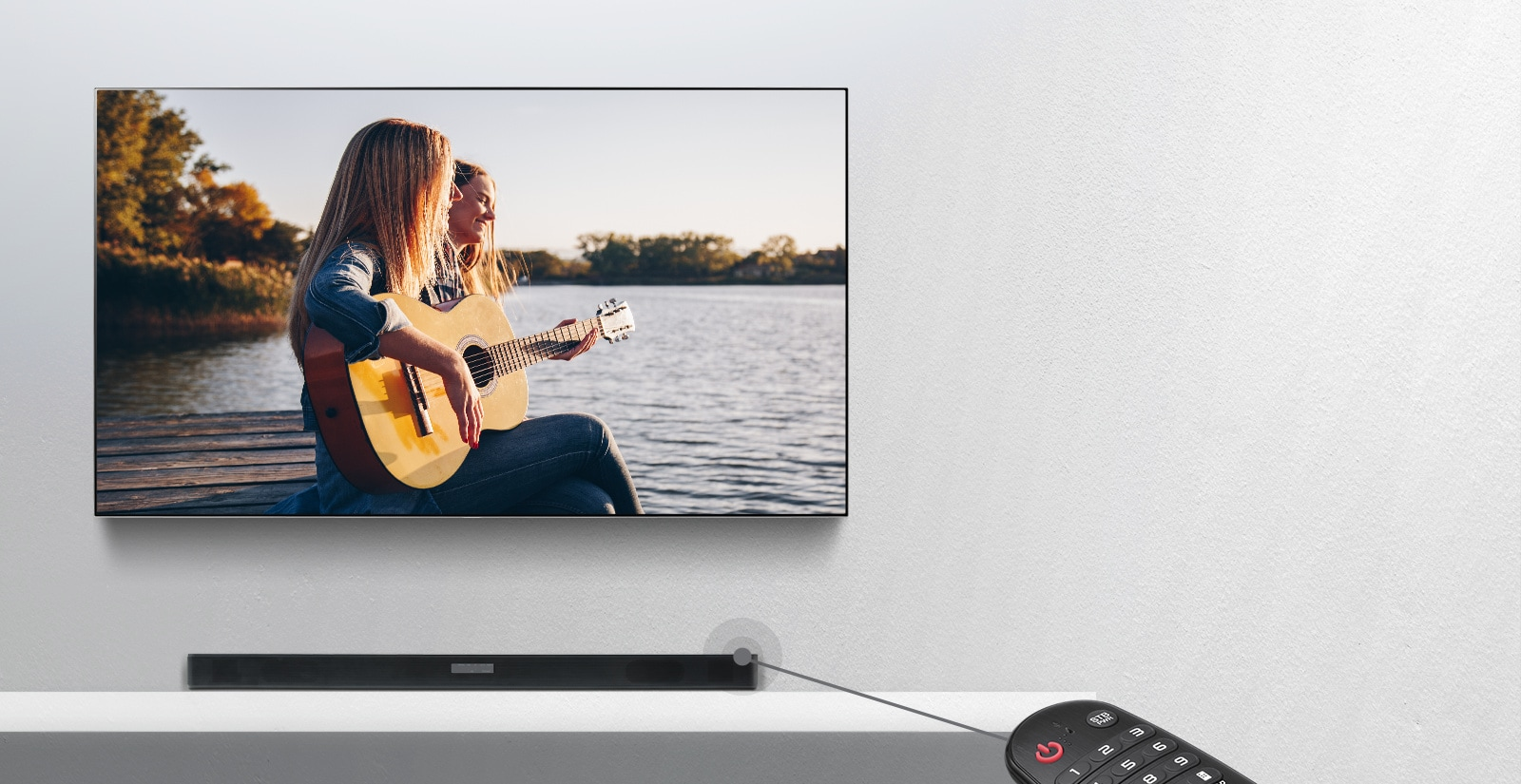 Звуковая панель Soundbar (Саундбар) LG SK6F 2.1 (черный) 360W - фото 04_SK5_Control_with_your_TV_Remote_Desktop