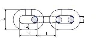 Цепи нержавеющие - фото чертеж цепи