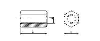 Гайки соединительные удлиненные DIN 6334 - фото Гайки соединительные удлиненные DIN 6334 - чертеж