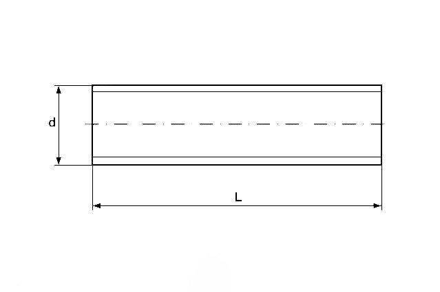 Резьбовая шпилька DIN 975 из нержавеющей стали А4 - чертеж