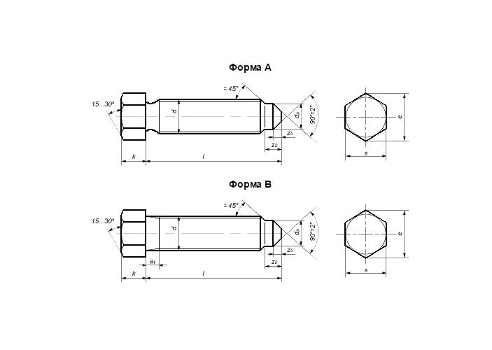 Конструкция винта DIN 561