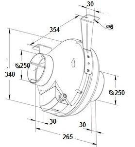 Размеры Вентс ВК 250 Б