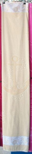 Полотенце махра, велюр, жаккард, Якорь, Штурвал 90 х 170 см. 770274 - фото Полотенце для сауны