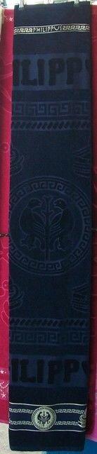 Полотенце махра, велюр, жаккард, PHILIPPUS 90 х 170 см. 770266 - фото Полотенце для сауны