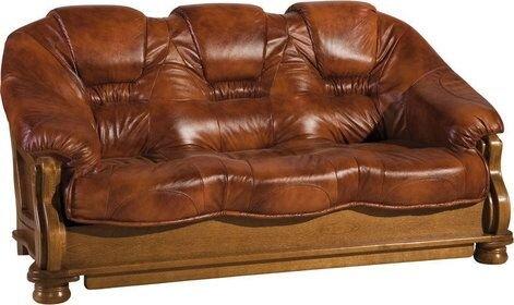 Классический кожаный диван - фото 1