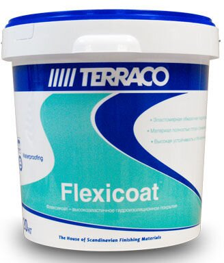 Эластичная гидроизоляция Terraco Flexicoat, ведро 20 кг - фото pic_5184d4b52209932_700x3000_1.jpg