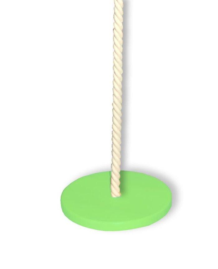 Детская спортивная стенка «Кеша» с веревочным комплектом - фото качелька дисковая цветная.jpg