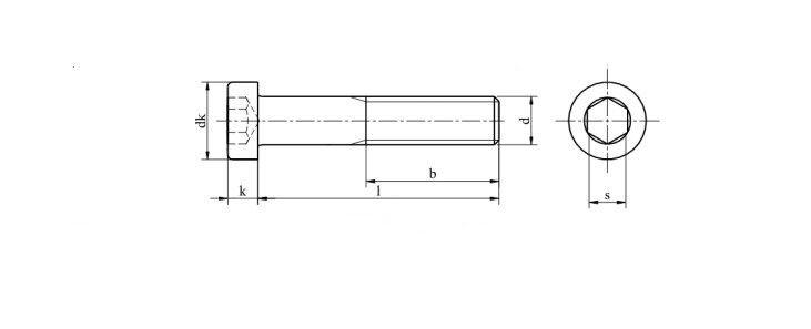 Винт М4 DIN 7984 с внутренним шестигранником и низкой цилиндрической головкой - фото Винт М4 DIN 7984 с внутренним шестигранником и низкой цилиндрической головкой - чертеж