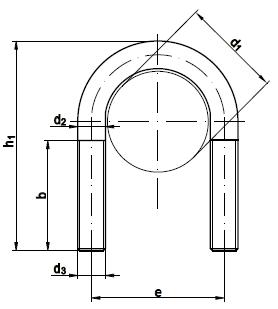 Болт-скоба DIN 3570 А530 - фото Фото болта-скобы А530 DIN 3570 оцинкованный - чертеж