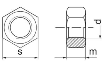 Гайка М110 ГОСТ 10605-94, DIN 934, класс прочности 8.0 - чертеж