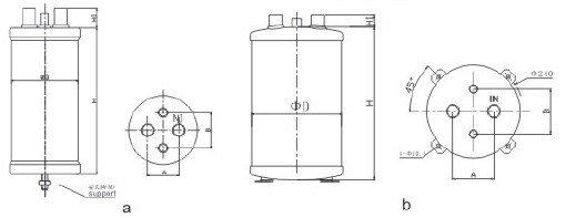 """Отделитель жидкости с теплообменником RSPQR-2415 1 5/8"""",7/8""""  11.5 л - фото pic_8ab58e9a2070c0fe8b4a08bdb663628a_1920x9000_1.jpg"""