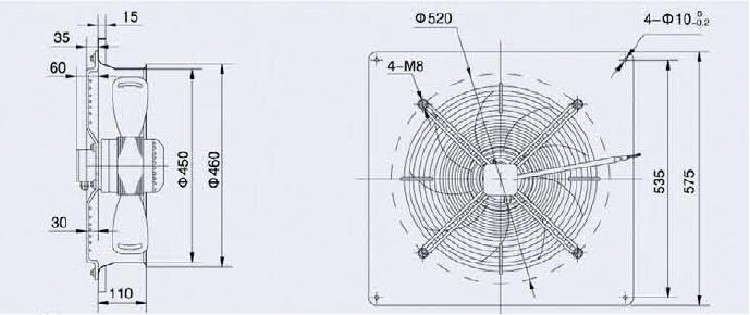 Вентилятор осевой на диффузоре 450мм - фото pic_d5343ea35e46444_700x3000_1.jpg