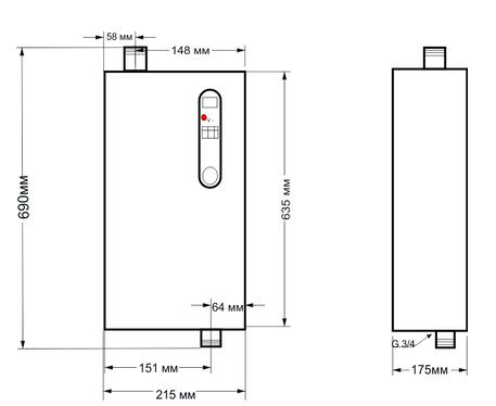 Электрический котел «TENOX» Standart M + насос / 3-4,5-6-9-12-15 кВт - фото pic_1e00e4122c9605e907f240dcd8a3cb47_1920x9000_1.png
