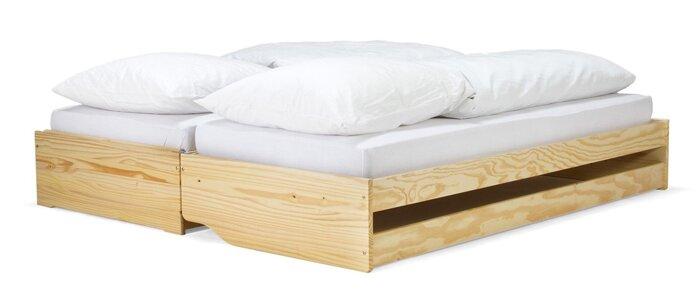 Кровать на три спальных места из массива дерева 035 - фото 1