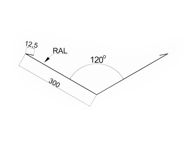 Планка ендовы нижняя для металлочерепицы и профнастила (620мм*2м.) МАТ ПЕ все цвета - фото pic_c1a86cd2482f7ee658348511cccc20e3_1920x9000_1.jpg